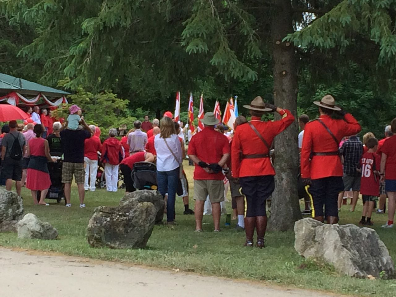 mounties canada day