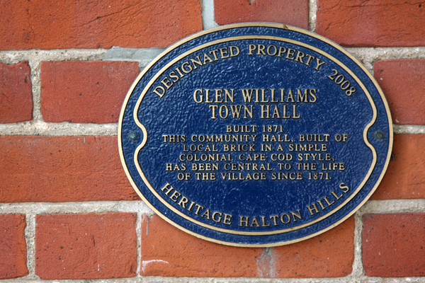 Glen Williams Town Hall historic designation