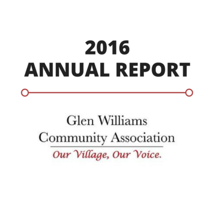 2016 GWCA Annual Report Hamlet of Glen Williams Residents Association
