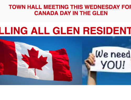 Canada Day 2018: CALLING ALL GLEN RESIDENTS…