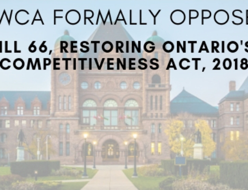 GWCA Declares its Opposition to Bill 66 – Restoring Ontario's Competitiveness Act, 2018